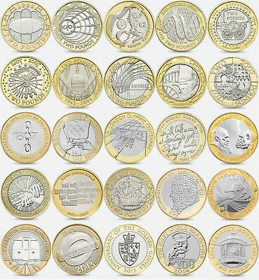 Collection of £2 Pound Coins - Commonwealth Games Olympic Mary Rose King James