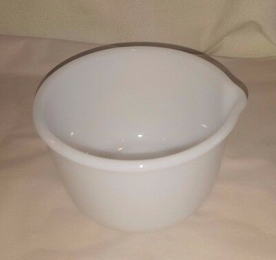 Vintage Glasbake Made for Sunbeam Mixer White Milk Glass Mixing Bowl # 21