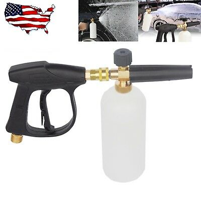 "1/4"" Pressure Snow Foam Washer Jet Car Wash Lance Soap Spray Cannon With Gun"