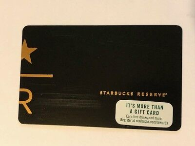 Starbucks Card 2017 USA RESERVE Black and Gold Limited Edition - USED