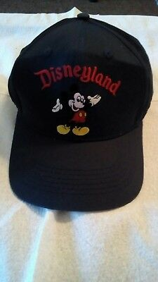 Disneyland Baseball Cap Mickey Mouse Embroidered 100% Cotton Black Snapback  Hat 8233166569f