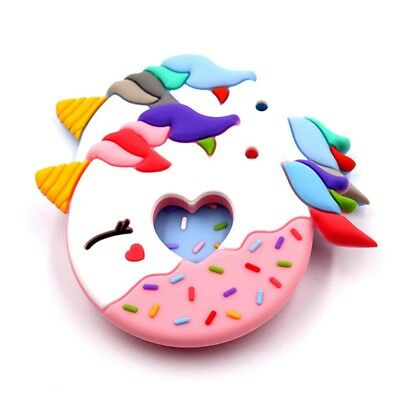 Donuts Silicone Teether baby Teething Toy beads DIY chew Pacifier Chain Pendant