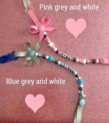 Personalised Dummy Clip*buy 2 Get 1 Free* Boy/girl Perfect Gift 💝