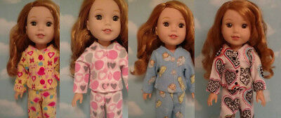Doll Clothes Pajamas Fits 14.5 inch American Girl Wellie Wishers Doll 253abcd