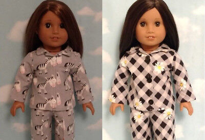 "Pajamas Doll Clothes for 18"" American Girl doll 414cd"