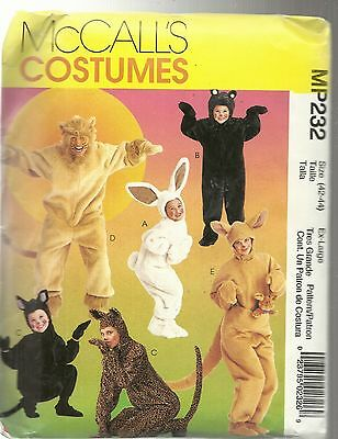 McCALL'S COSTUMES MP232 / 8953 ADULTS & KIDS ANIMAL RABBIT KANGAROO PATTERNS NEW