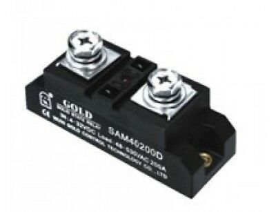 DC-AC Solid State Relay 4-32VDC-in, 40-480VAC-out, 200Amps, UL (Pt# SAM40200D)