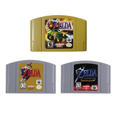 3X Nintendo N64 Game THE LEGEND OF ZELDA MAJORA 'S MASK,MASTER QUSEST US version