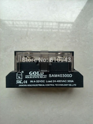 DC-AC Solid State Relay 4-32VDC-in, 40-480VAC-out, 300Amps, UL (Pt# SAM40300D)
