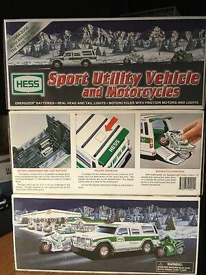 Hess Sport Utility Vehicle and Motorcycles (2004 Hess Toy Truck) NEW in BOX
