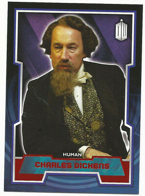 Topps Doctor Who 2015 Red Parallel Variant #124 ~ Charles Dickens ~ 07/50