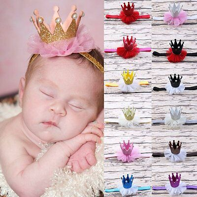 Lovely Kids Girl Toddler Lace Crown Hair Band Headwear Headband Accessories CN