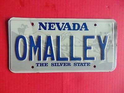 LICENSE PLATE NEVADA OMALLEY 3D Vanity The Silver State Big Horn Ram 06-1992 #2