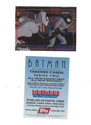 Promo BATMAN THE ANIMATED SERIES Series Two 1993