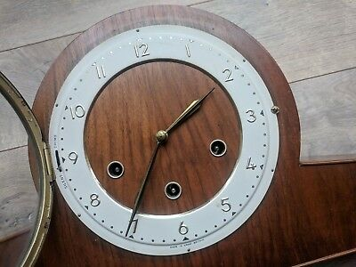 Vintage Smiths Made in Great Britain Mechanical Chime Desk/Wall Clock FOR REPAIR