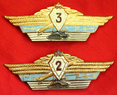 Vintage USSR Soviet Russian Army Specialist Officer 2rd and 3rd Class Pin Badges