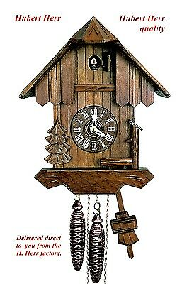 Hubert Herr,  Black Forest farm house style 1 day weight driven cuckoo clock .