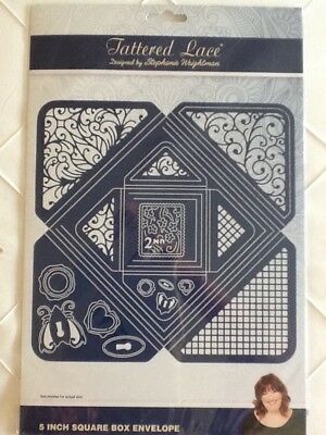 "Tattered Lace - 5"" Square Box Envelope Die Set"