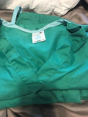 STANDARD TEXTILE Unisex Reversible Hospital Scrubs Surgical Green SIze XS