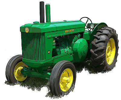 John Deere Model AR canvas art print by Richard Browne farm tractor