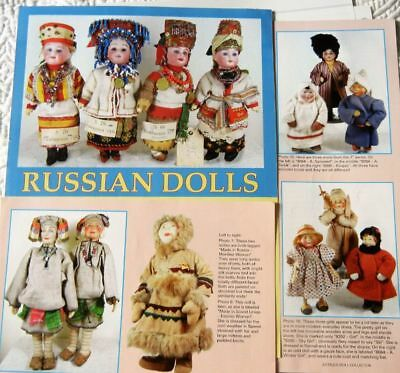 8p History Article + Pics -  Antique Russian Dolls & Their Ethnic Costumes