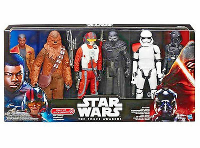 """Star Wars The Force Awakens 12""""Collectible  6 Action Figure Pack Sealed Gift NIB"""