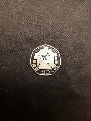 UK's Official Rarest -First Dual Dated 50p Fifty Pence Coin EEC 1992-1993. PROOF