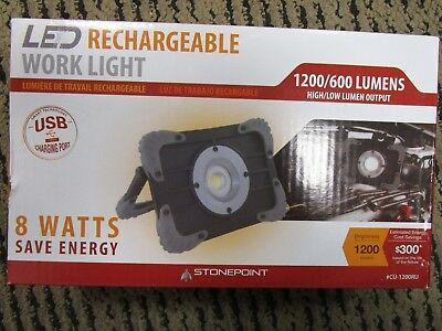 StonePoint LED Rechargeable Work Light CU-1200RU BRAND NEW