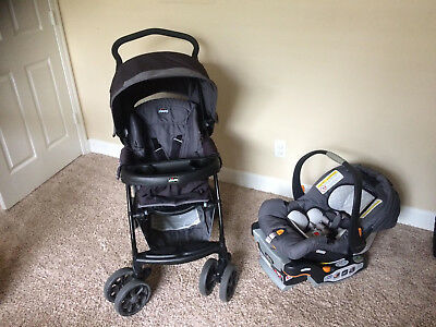Chicco Cortina CX Baby Travel System Stroller w KeyFit 30 Car Seat Iron Gray