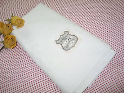 "Vintage Bed Sheet -UNUSED Deadstock-""AVON"" brand 1930s old store stock 81""x108"""