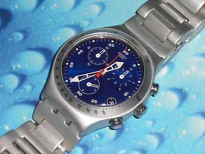 """Swatch Irony Chrono """"Troublemaker"""" YCS4011AG Top Zustand + OVP + Batterie"""