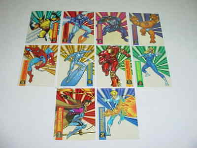1994 MARVEL UNIVERSE Suspended Animation Set