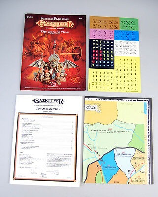 Dungeons & Dragons Gazetteer - The Orcs of Thar - Chits Unpunched GAZ10 D&D TSR