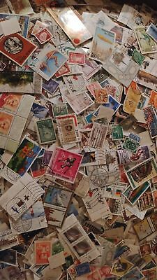 Worldwide Assortment Of 100 Cancelled Foreign Stamps Collection (Variety Lot)