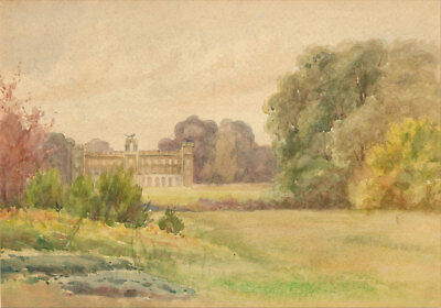 English School 20th Century Watercolour - Syon House, Richmond