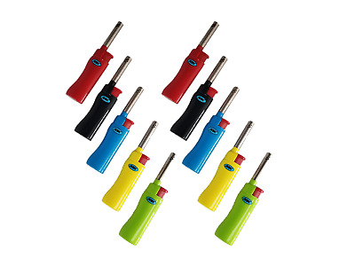 10 Pack MK  Multi-Purpose WINDPROOF Refillable Candle Lighter  Pipe BBQ Grill