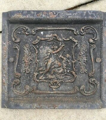 100+ Yr Old Cast Iron Fireplace Cover Ornate Architecture