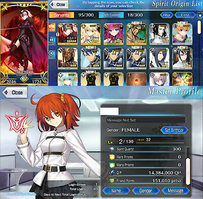 FGO Account, Jeanne Alter, JALTER, 300 QUARTZ, Fate Grand Order NA 🌟 FRESH