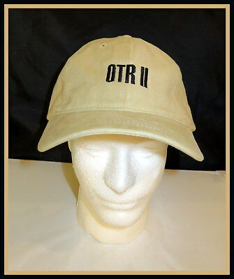 5ee95fbc031a4 BEYONCE JAY Z Tan Cap OTR II 2018 On The Run OFFICIAL CONCERT MERCH- NOT