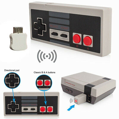 1/2Pcs 2.4GHz Wireless Controller Gamepad for NES Classic Edition Console US