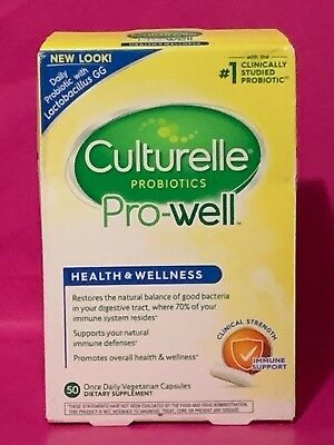 Culturelle Probiotics PRO-Well 50 Capsules, NEW, EXP:11/2018, #S032
