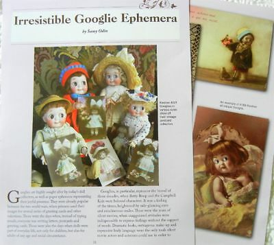 4p History Article -  Antique German Googlie Googly Doll Ephemera - Postcards