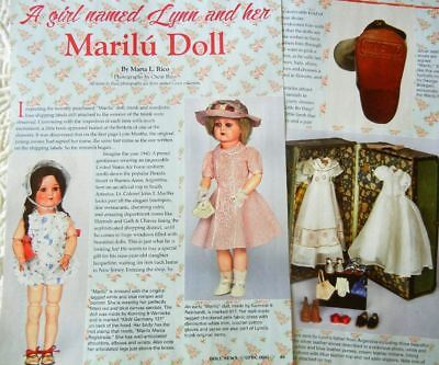 6p History Article + Pics -   Antique 1930s Marilu Dolls of Argentina