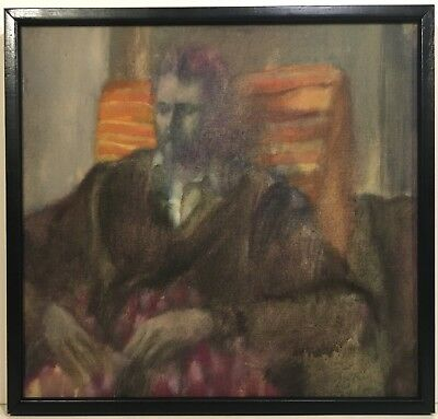 JOHN GUNDELFINGER 20th c. American PAINTING Portrait of a Seated Man NY Artist