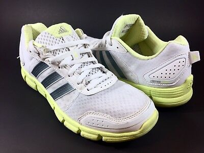 85f9e23ff2ac Adidas Climacool Aerate 3 White Neon Green Running Shoes Women s Size 8.5