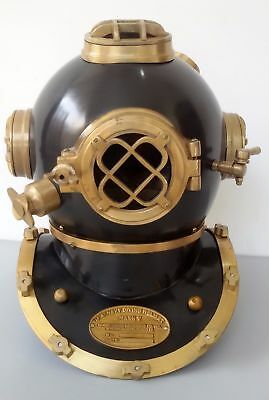 Antique Reproduction U S Navy Mark V Diving Divers Helmet Brass Made Marine Gift