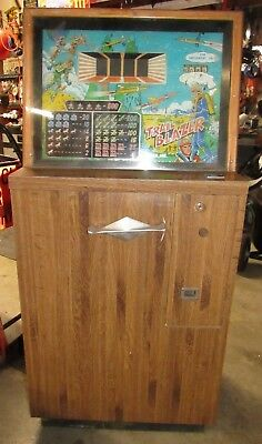 "Rare Vintage 10 Cent Slot Machine, Games Inc. 1960 ""Trail Blazer"" Space Theme"
