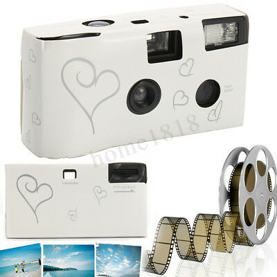 Hearts Pattern Disposable Camera with Flash 36exp Wedding Party Pack of 10/20