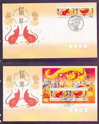 Christmas Island  1996  FDC, Year of the Rat (2).