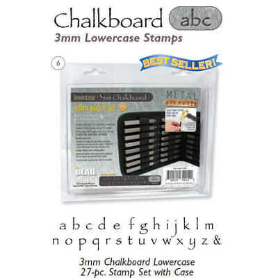 Letter Metal Punch Stamp Set x Chalkboard - Use on Metal, Clay, Wood, Leather